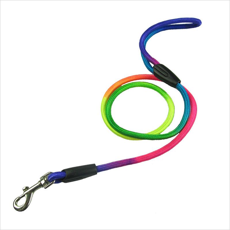 Woven colored nylon dog leash harness
