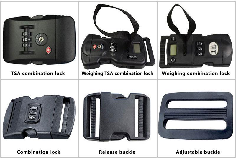 Custom pretty tsa lock luggage strap