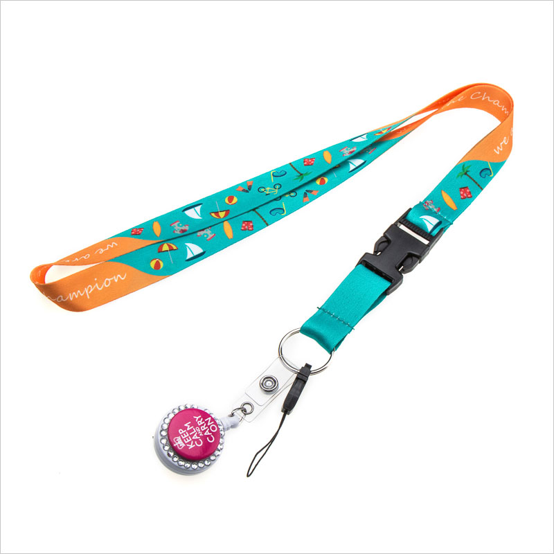 Wholesales custom pretty lanyards for badges