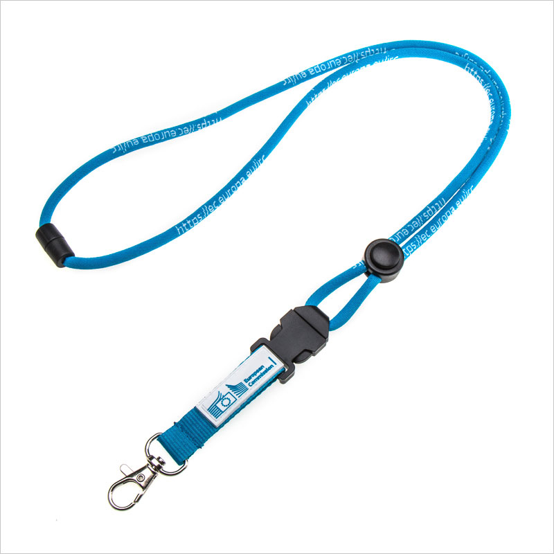 Wholesales round woven safety lanyards
