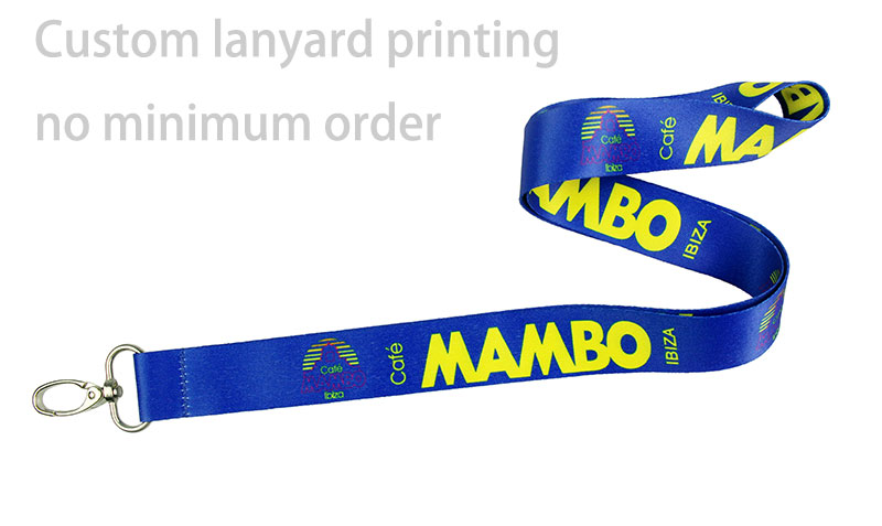 Custom lanyard printing no minimum order | GUAN CHANG GIFT