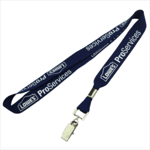Badge clip plastic name tags with lanyards