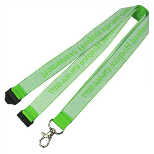 Green Detachable Jacquard Lanyard For ID Card