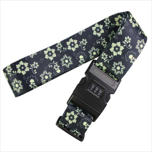 Sided printing adjustable combination lock strap