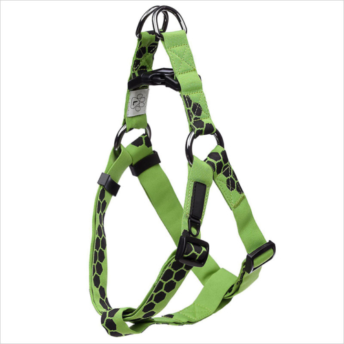 Custom high quality adjustable green dog harness