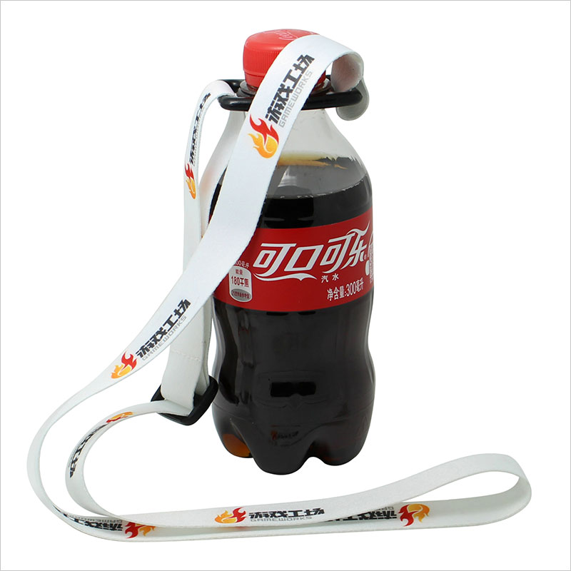 Water Bottle With Strap: Length Adjustable Imprinted