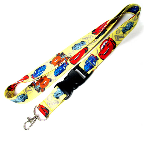 Detachable cartoon printed cool car lanyards