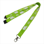 Printed logo safety green earth friendly lanyards